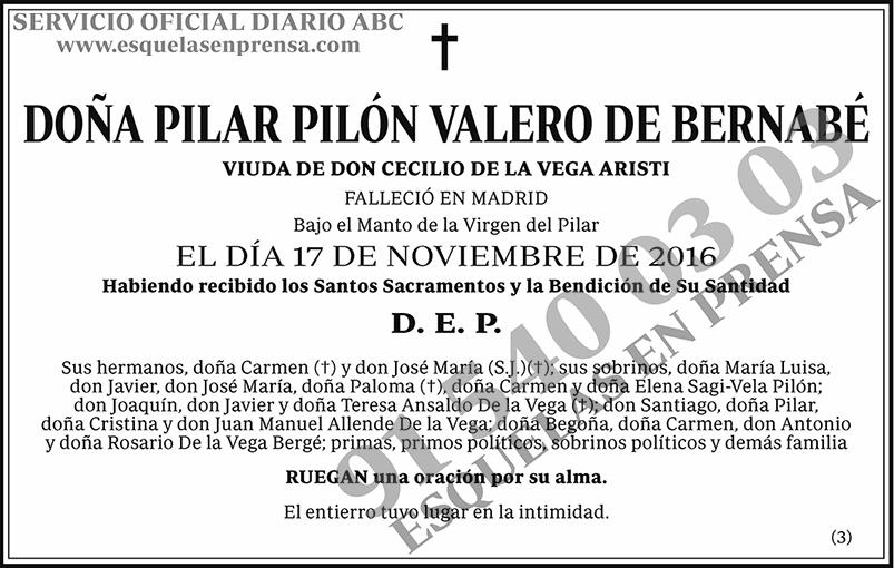 Pilar Pilón Valero de Bernabé